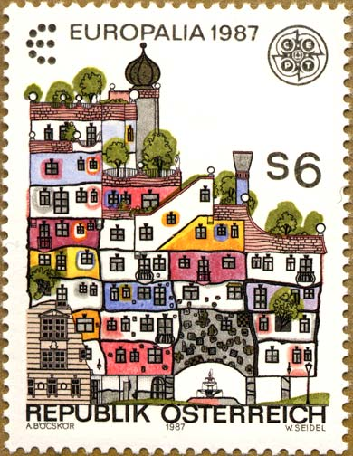 The Stamp Represent Hundertwasserhaus In Vienna Built Between 1983 And 1986 By City Of I Was Lucky Enough To Visit It When Visited