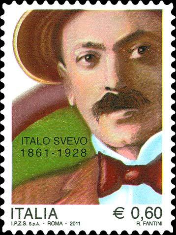 Francobollo commemorativo Italo Svevo